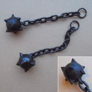 Medieval War Mace / Flail Ball & Chain - Solid Metal